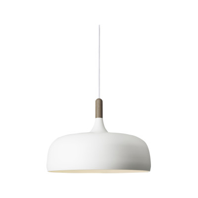 Acorn Pendant Light Walnut, Off White