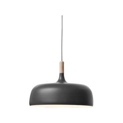 Acorn Pendant Light Oak, Matt Grey