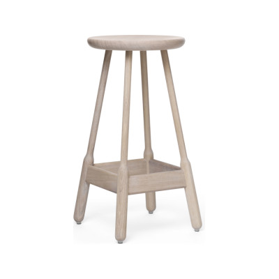 Albert Bar Stool White Oiled Oak, 74cm