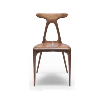 Alpha Dining Chair Solid Walnut