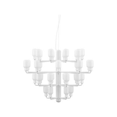 Amp Chandelier White/White, Large