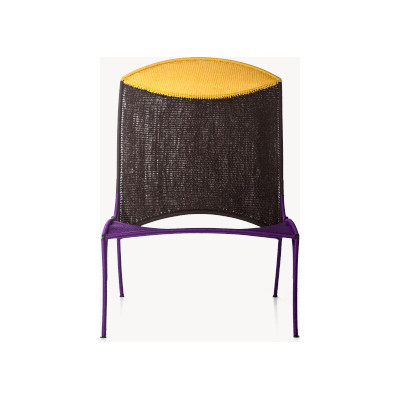 Arco Chair B Panama / oxyde / Violet