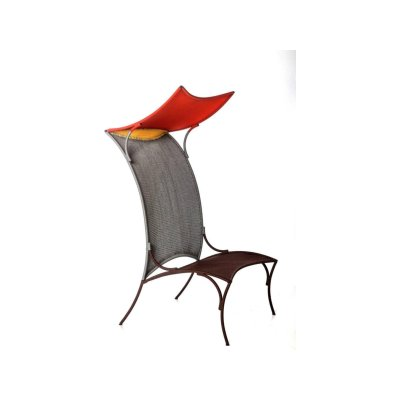 Arco High Chair Rouge-panama-Gris-oxyde