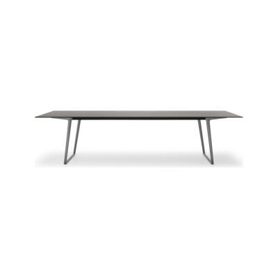 Axy Dining Table 90x260cm, Graphite Grey, Medium Grey