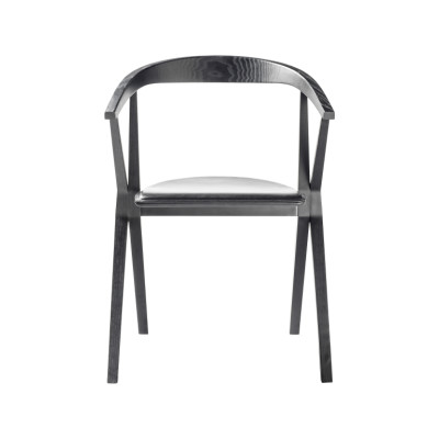 B Dining Chair Wood Ash - Stained Black FR10