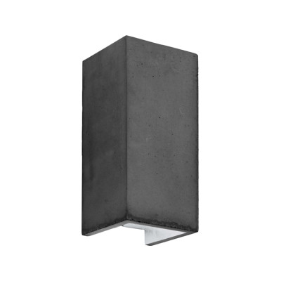 [B8] Wall Light Dark Grey/Silver