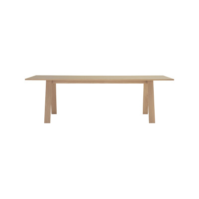 Bac Rectangular Top Table Frassino Ash Wood 113, Frassino Ash Wood 113, 200 X 85 X 72