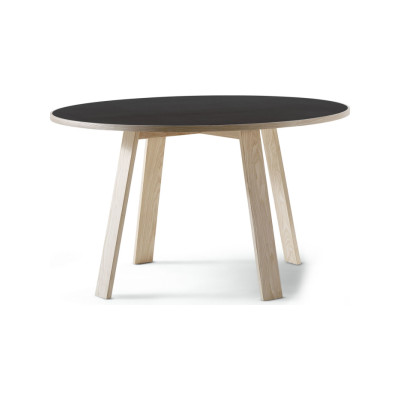 Bac Rounded Top Table Bac 1304, Frassino Ash Wood 113