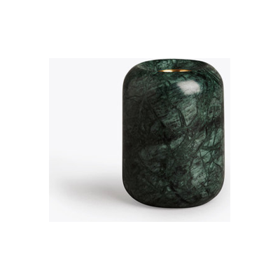 Balance Candle Holder Indian Green Marble, Medium