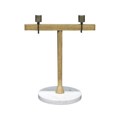 Balance Candleholder I White Carrara Marble