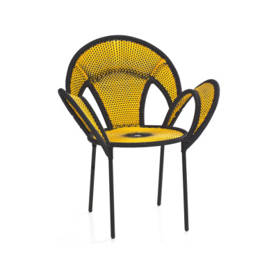 Banjooli Armchair Black / Yellow