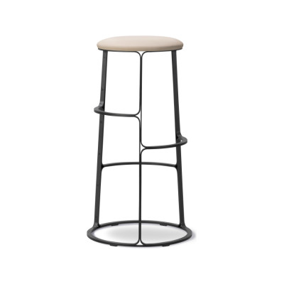 Barbry Stool - With Seat Upholstery Leather 75 Cognac