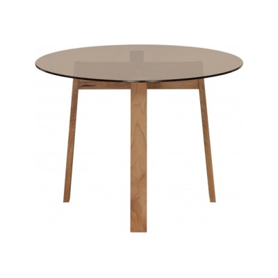 Basis Round Table White Pigmented Waxed, Oak, 135