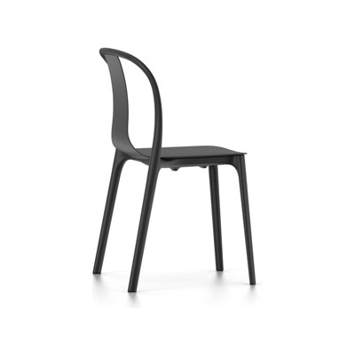Belleville Chair with Plastic Shell 94 Moss Grey