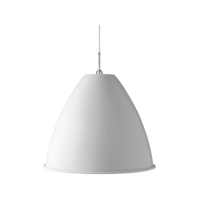Bestlite BL9  Extra Large Pendant Lamp Matt White/Chrome