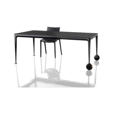 Big Will Table Black Frame, Walnut Top, 210 cm