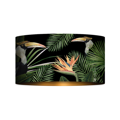 Birds of Paradise Drum Table/Floor Shade