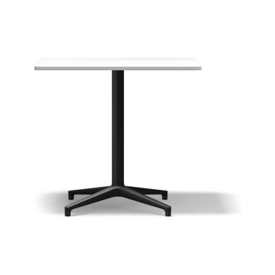 Bistro Rectangular table, Indoor basic dark melamine white