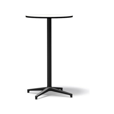 Bistro Stand-up Round table, Outdoor basic dark laminate white, 64.2