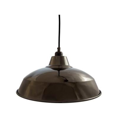 Black Chrome Industrial Lamp Shade Black Chrome Industrial Lamp Shade