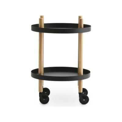 Block Side Round Table Black