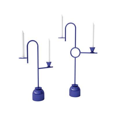 Blue Candleholders 26 X 8.5 X 43