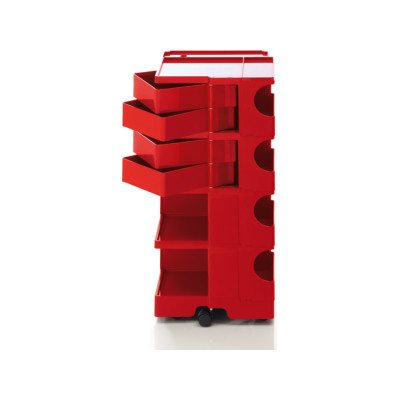 Boby Trolley Storage - Large Red, 4