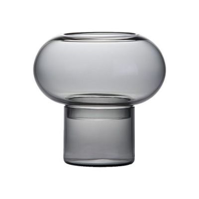 Bolla Candleholder Smoky Grey