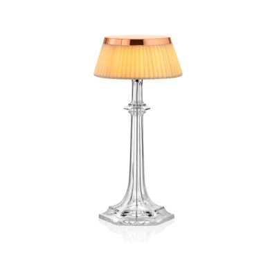 Bon Jour Versailles Table Lamp Copper, Red, Small