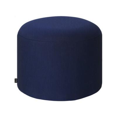 Bon Pouf Round Uniform Melange Ink