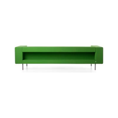 Bottoni Shelf 3 Seater Sofa Cervino Leather Anthracite