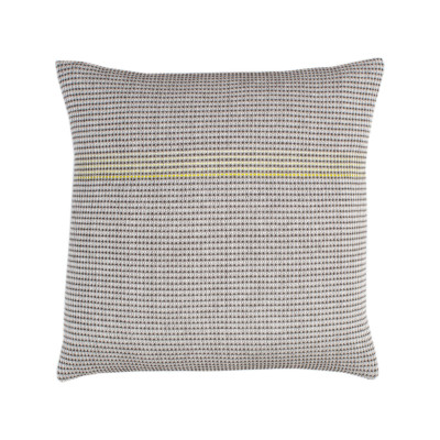 BOUTIQUE YELLOW SQUARE organic cotton hand embroidered yellow square