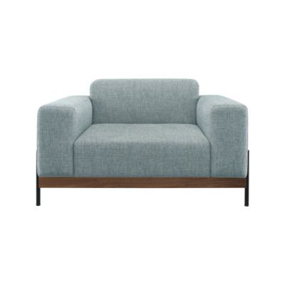 Bowie Armchair Oak Natural, Lana 007 Canary