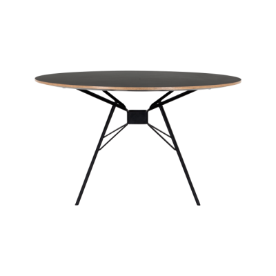 Bridge Dining Table - Round Black Matt