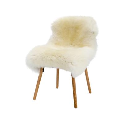 British Tanned Sheepskin Natural White