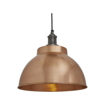 Brooklyn Dome Pendant Light - 13 Inch Brooklyn Dome Pendant - 13 Inch - Copper - Pewter Holder