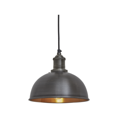 Brooklyn Dome Pendant Light - 8 Inch Brooklyn Dome Pendant - 8 Inch - Pewter & Copper - Pewter Holder