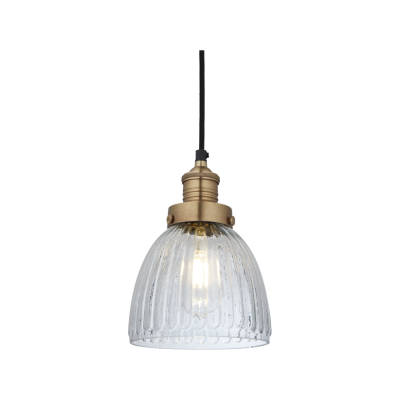 Brooklyn Glass Cone Pendant Light Brooklyn Glass Cone Pendant - 7 Inch - Brass Holder