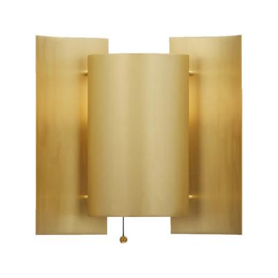 Butterfly Wall Light Brushed Brass, Black Silk