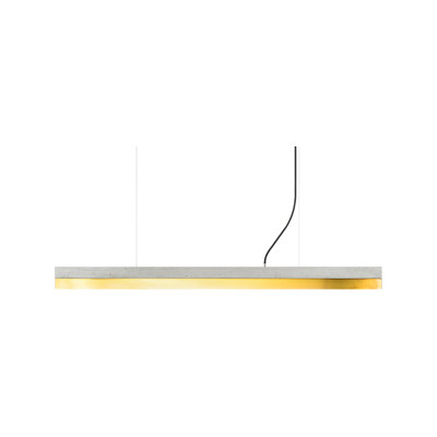 [C] Concrete & Brass Pendant Light (92cm or 122cm) Light Grey, 4000k