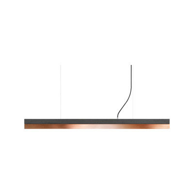 [C] Concrete & Copper Pendant Light (92cm or 122cm) Dark Grey, 4000k, [C1] - 122cm