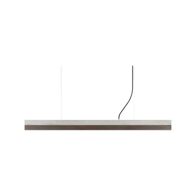 [C] Concrete & Corten Steel Pendant Light (92cm or 122cm) Light Grey, 2700k, [C2] - 92cm