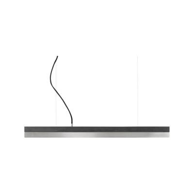[C] Concrete & Stainless Steel Pendant Light (92cm or 122cm) Dark Grey, 4000k, [C2] - 92cm