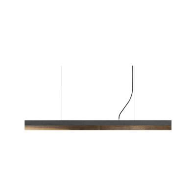 [C] Concrete & Walnut Pendant Light (92cm or 122cm) Dark Grey, 4000k, [C1] - 122cm