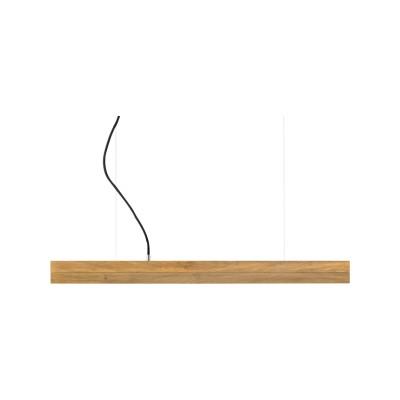 [C] Oak Wood & Oak Pendant Light (92cm or 122cm) 4000k, [C2o] - 92cm