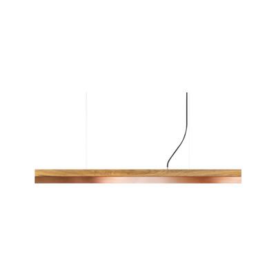 [C] Oak Wood & Copper Pendant Light (92cm, 122cm or 182cm) [C3o] - 182cm, 4000k
