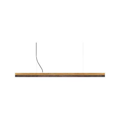 [C] Oak Wood & Corten Steel Pendant Light (92cm, 122cm or 182cm) [C3o] - 182cm, 4000k
