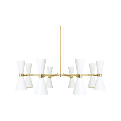 Cairo 8 Arm Chandelier Powder Coated White
