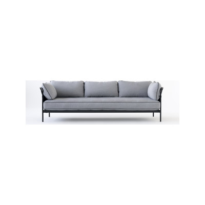 Can 3 Seater Sofa Surface by Hay 120, Black, Blue