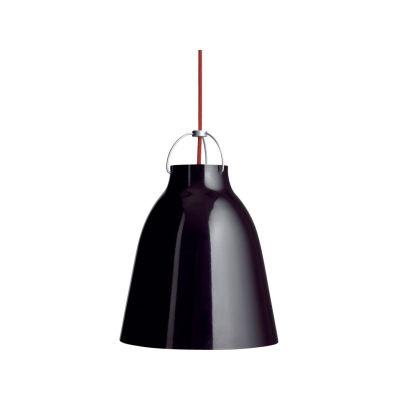Caravaggio Pendant Light Black with black-chrome suspension, P1 Medium, 6 m cord